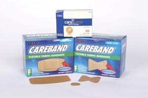 ASO CAREBAND™ FABRIC ADHESIVE STRIP BANDAGES : CBD4025 BX $3.89 Stocked