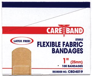 ASO CAREBAND™ FABRIC ADHESIVE STRIP BANDAGES : CBD4019 CS                 $24.34 Stocked