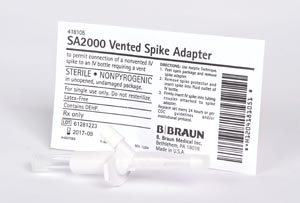 B BRAUN ADMIXTURE ACCESSORIES : 418105 EA             $2.84 Stocked