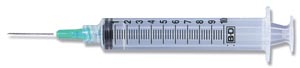 BD 10 ML SYRINGES & NEEDLES : 309644 BX
