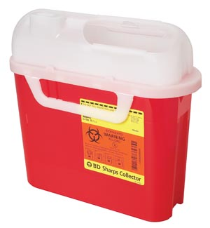 BD PATIENT ROOM SHARPS COLLECTORS : 305444 CS                       $141.96 Stocked