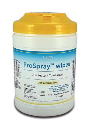 CERTOL PROSPRAY™ WIPES : PSWC EA                   $9.31 Stocked