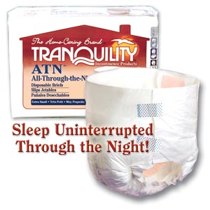 PRINCIPLE BUSINESS TRANQUILITY ALL-THROUGH-THE-NIGHT DISPOSABLE BRIEFS : 2187 CS $84.01 Stocked