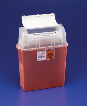 COVIDIEN/MEDICAL SUPPLIES GATORGUARD IN-PATIENT ROOM SHARPS CONTAINERS : 31314886 CS $95.63 Stocked