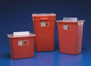 CARDINAL HEALTH LARGE VOLUME SHARPS CONTAINERS : 31156550 CS                    $87.65 Stocked