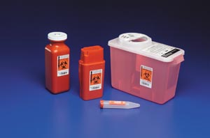 CARDINAL HEALTH TRANSPORTABLE SHARPS CONTAINERS : 8909 EA                      $4.18 Stocked