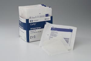 COVIDIEN/MEDICAL SUPPLIES CURITY™ NON-WOVEN ALL-PURPOSE SPONGES : 9132 CS $46.48 Stocked