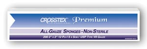 CROSSTEX ALL GAUZE PREMIUM NON-STERILE SPONGES : ENC212 CS $102.12 Stocked