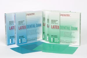 CROSSTEX DENTAL DAMS : 19101 BX            $10.99 Stocked