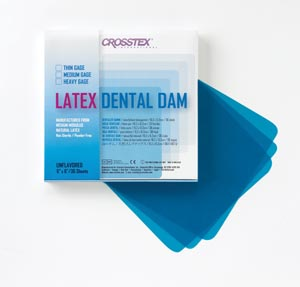 CROSSTEX DENTAL DAMS : 19301 BX                 $11.31 Stocked