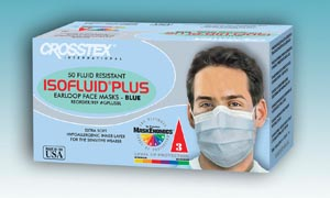 CROSSTEX ISOFLUID PLUS EARLOOP MASK : GPLUSPK BX                       $10.71 Stocked