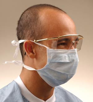 CROSSTEX SURGICAL MASK WITH TIE-ON LACES : GCS CS $91.03 Stocked
