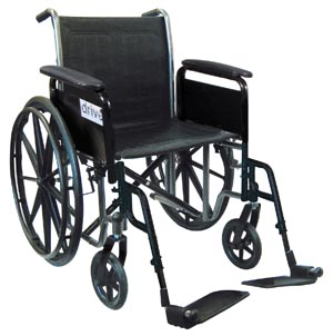 DRIVE MEDICAL WHEELCHAIR : SSP218FA-SF EA $142.95 Stocked
