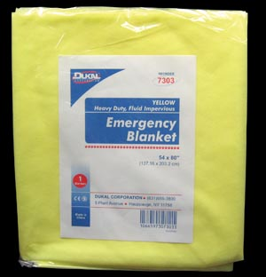DUKAL EMERGENCY BLANKETS : 7303 EA                 $2.40 Stocked