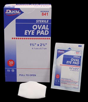 DUKAL EYE PADS : 841 CS                       $75.87 Stocked