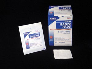 DUKAL GAUZE PADS : 1312 CS                       $104.23 Stocked