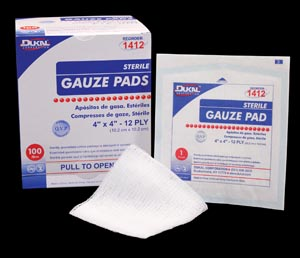 DUKAL GAUZE PADS : 1412 CS                       $80.96 Stocked