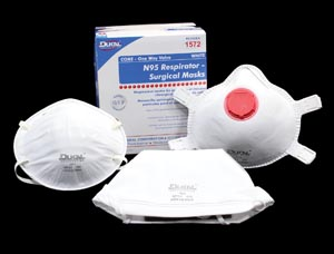 DUKAL N95 RESPIRATOR & SURGICAL FACE MASKS : 1571 BX $15.02 Stocked