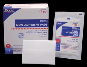 DUKAL NON-ADHERENT PADS : 134 BX $8.62 Stocked