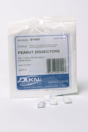 DUKAL PEANUT SPONGES : 61404 PK    $1.03 Stocked