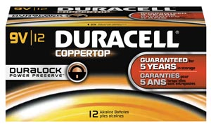 DURACELL COPPERTOP ALKALINE BATTERY WITH DURALOCK POWER PRESERVE™ TECHNOLOGY : MN1604BKD PK $36.71 Stocked
