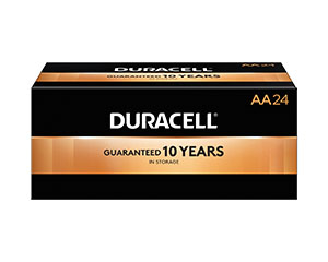 DURACELL COPPERTOP ALKALINE BATTERY WITH DURALOCK POWER PRESERVE™ TECHNOLOGY : MN1500BKD PK          $13.95 Stocked