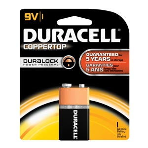 DURACELL COPPERTOP ALKALINE RETAIL BATTERY WITH DURALOCK POWER PRESERVE™ TECHNOLOGY : MN1604B1Z CS $138.53 Stocked