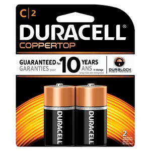 DURACELL COPPERTOP ALKALINE RETAIL BATTERY WITH DURALOCK POWER PRESERVE™ TECHNOLOGY : MN1400B2Z PK             $3.12 Stocked