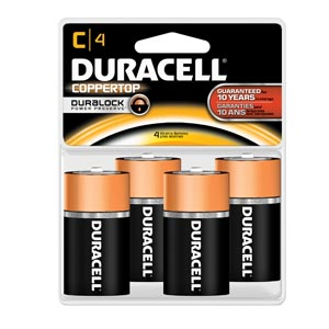 DURACELL COPPERTOP ALKALINE RETAIL BATTERY WITH DURALOCK POWER PRESERVE™ TECHNOLOGY : MN1400R4ZX CS                       $98.28 Stocked