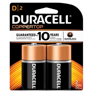 DURACELL COPPERTOP ALKALINE RETAIL BATTERY WITH DURALOCK POWER PRESERVE™ TECHNOLOGY : MN1300B2Z CS $140.66 Stocked