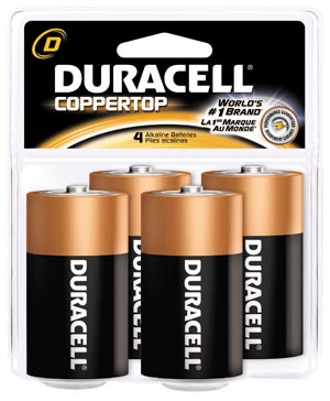 DURACELL COPPERTOP ALKALINE RETAIL BATTERY WITH DURALOCK POWER PRESERVE™ TECHNOLOGY : MN1300R4Z CS                  $65.52 Stocked