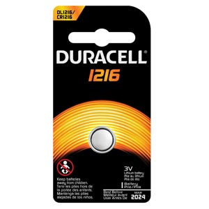 DURACELL ELECTRONIC WATCH BATTERY : DL1216BPK EA $0.88 Stocked
