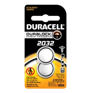 DURACELL MEDICAL ELECTRONIC BATTERY : DL2032B2PK BX                       $11.62 Stocked