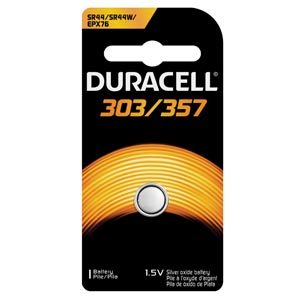DURACELL MEDICAL ELECTRONIC BATTERY : D303/357BPK EA $0.86 Stocked