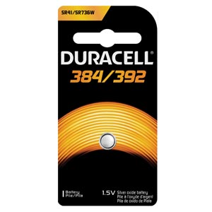 DURACELL MEDICAL ELECTRONIC BATTERY : D384/392PK EA                     $0.44 Stocked