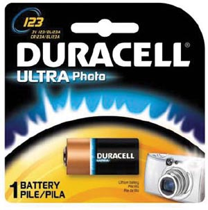 DURACELL PHOTO BATTERY : DL123ABPK BX                   $4.87 Stocked