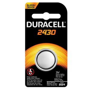 DURACELL SECURITY BATTERY : DL2430BPK EA                       $1.02 Stocked