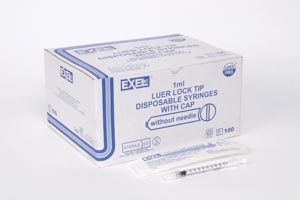 EXEL TB TUBERCULIN SYRINGES WITH LUER LOCK : 26049 BX      $17.63 Stocked