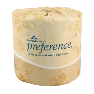 GEORGIA-PACIFIC PREFERENCE EMBOSSED BATHROOM TISSUE : 18280 CS $68.64 Stocked