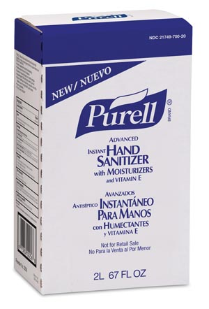 GOJO PURELL ADVANCED INSTANT HAND SANITIZER : 2256-04 CS