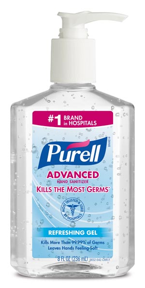 GOJO PURELL ADVANCED INSTANT HAND SANITIZER : 9652-12 CS    $45.08 Stocked