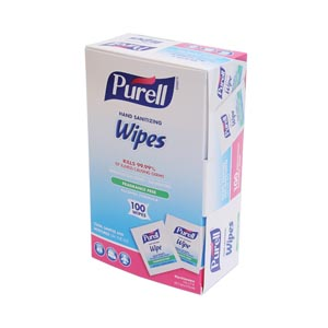 GOJO PURELL SANITIZING HAND WIPES : 9022-10 BX $5.38 Stocked