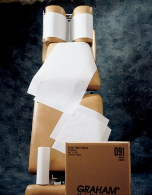 GRAHAM MEDICAL CHIROPRACTIC QUALITY HEADREST PAPERS : 904 CS $19.89 Stocked