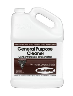 L&R GENERAL PURPOSE CLEANER CONCENTRATE - NON AMMONIATED : 228 CS $129.15 Stocked