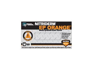 INNOVATIVE NITRIDERM EP ORANGE POWDER-FREE EXAM GLOVES : 189100 BX             $12.39 Stocked