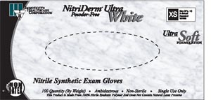 INNOVATIVE NITRIDERM ULTRA WHITE NITRILE SYNTHETIC POWDER-FREE EXAM GLOVES : 167350 CS                      $51.61 Stocked