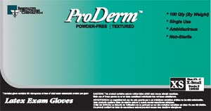 INNOVATIVE PRODERM™ POWDER-FREE EXAM GLOVES : 155350 BX                      $4.83 Stocked