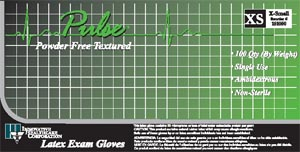 INNOVATIVE PULSE LATEX POWDER-FREE EXAM GLOVES : 151300 BX                    $4.99 Stocked