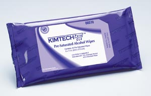 KIMBERLY-CLARK ALCOHOL WIPES : 06070 PK                       $10.50 Stocked