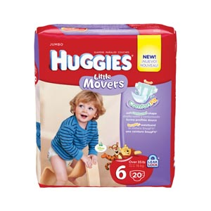 KIMBERLY-CLARK HUGGIES LITTLE MOVERS DIAPERS : 55706 PK $14.13 Stocked